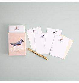 Thank You Flat Note Set: Birds