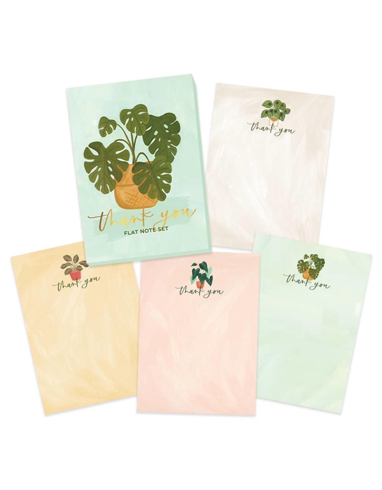 Thank You Flat Note Set: Plants