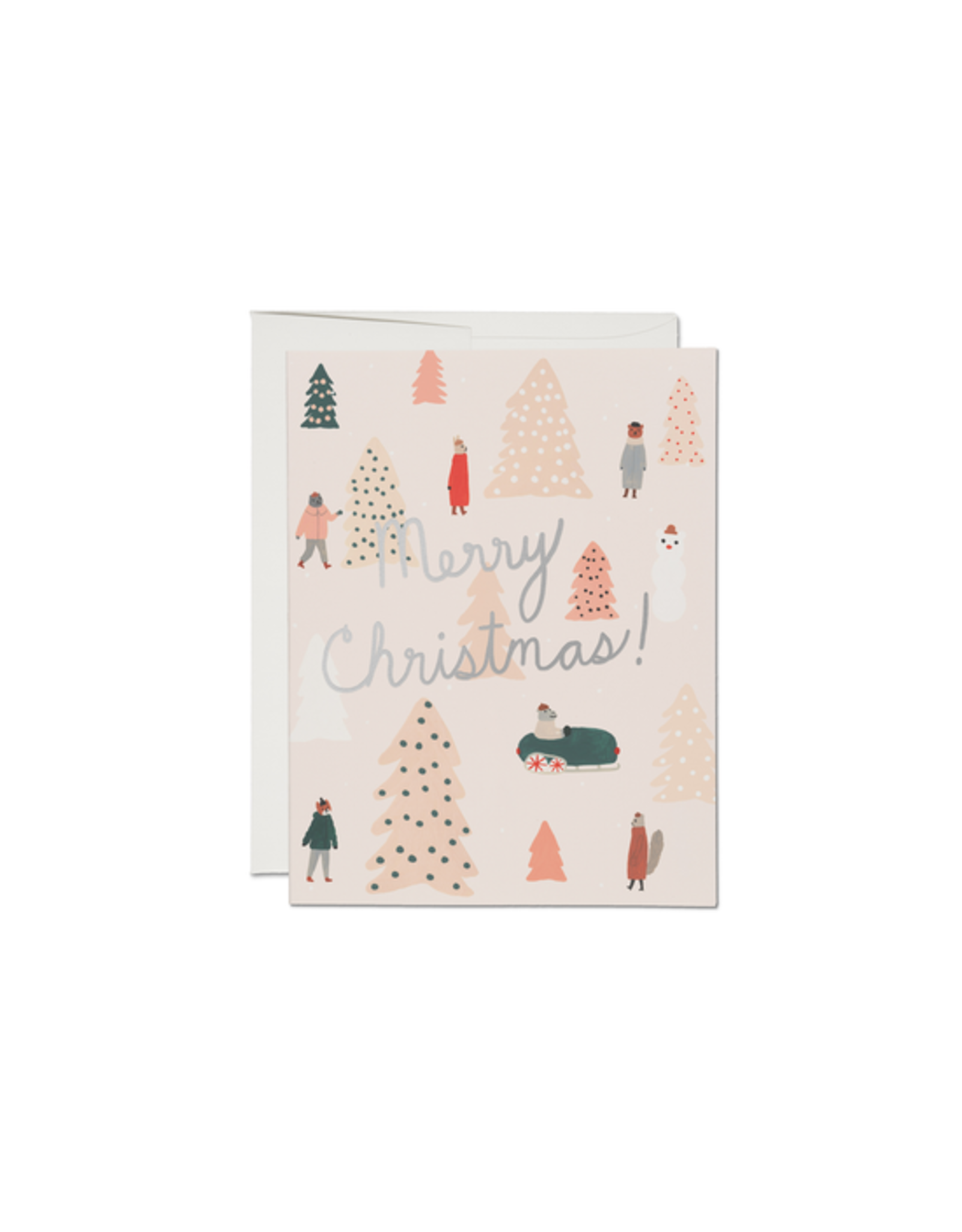 Pink Trees Card