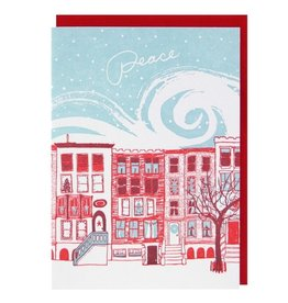 Row of Brownstones Holiday Card - Box of 10