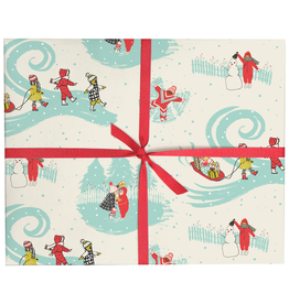 Kids in the Snow Gift Wrap - Roll of 3
