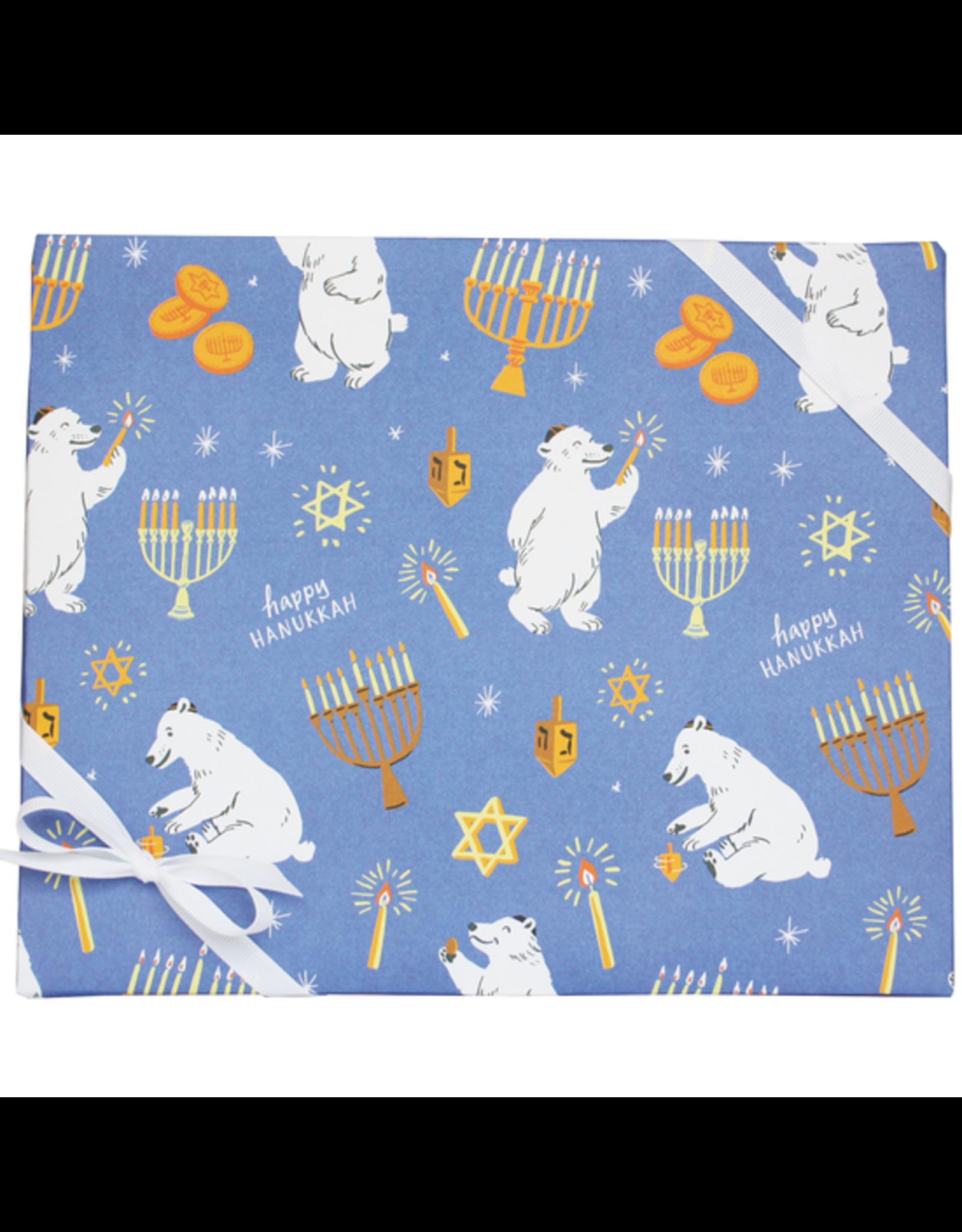 Polar Bear Hanukkah Gift Wrap