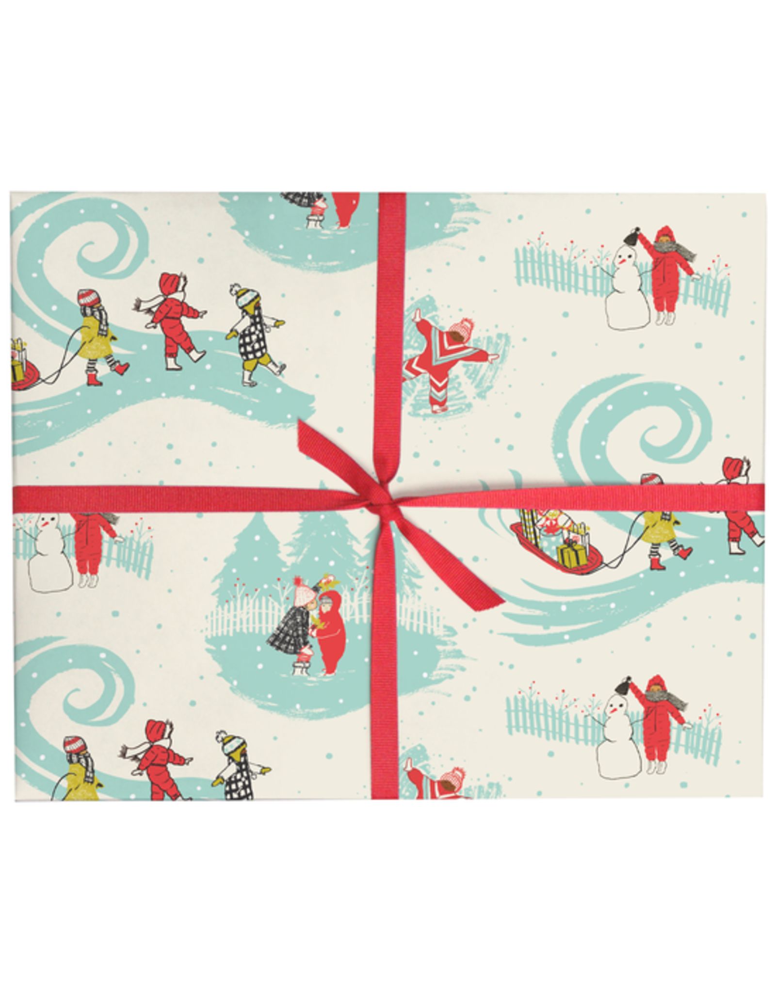 Kids in the Snow Gift Wrap