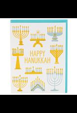 Menorah Hanukkah Card