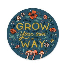 Paper Parasol Press Grow Your Own Way Sticker