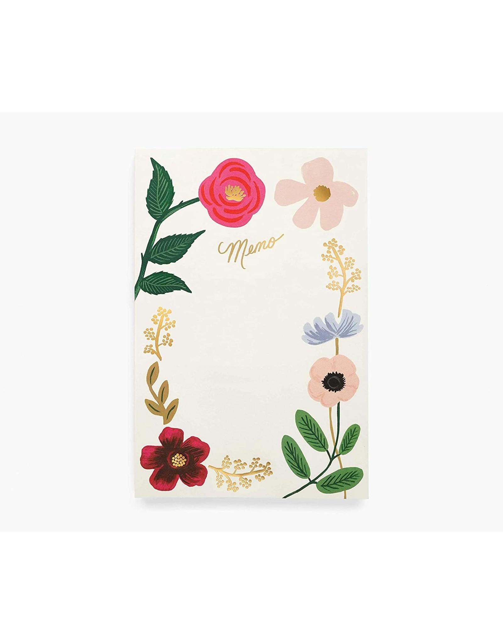 Rifle Paper Wildflowers Memo Notepad