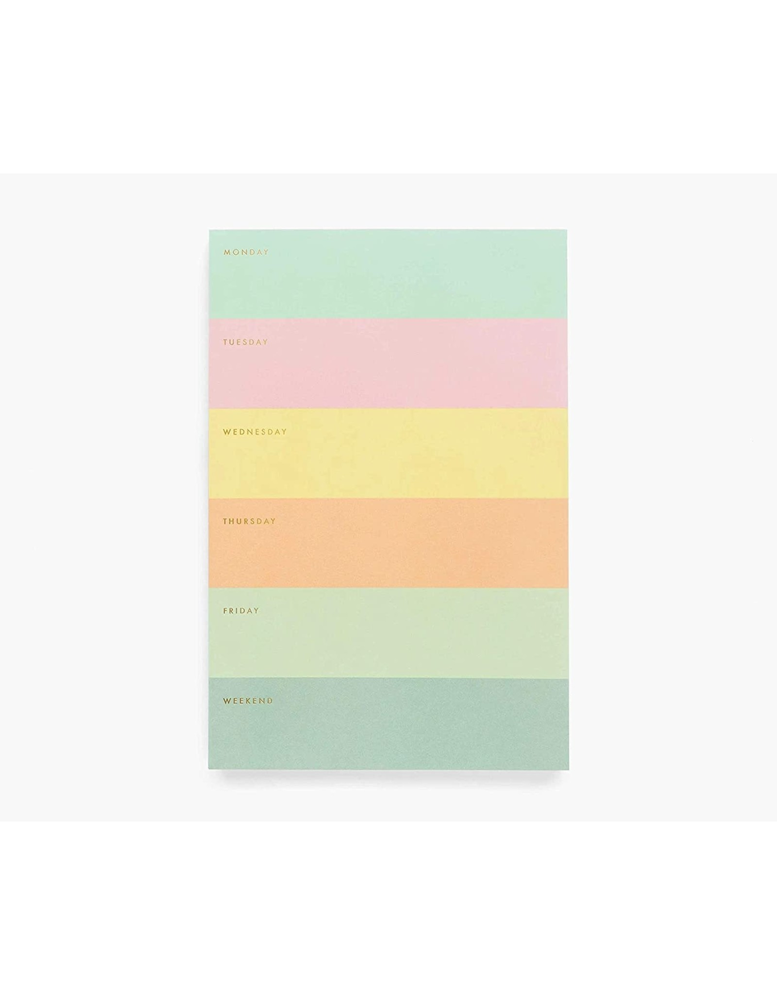 Rifle Paper Color Block Weekly Memo Notepad