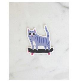 Skater Cat Sticker