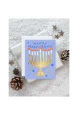 Starry Menorah Card