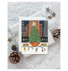 NYC Holiday Rockefeller Center Tree Card