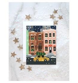 NYC Holiday Brownstone Card