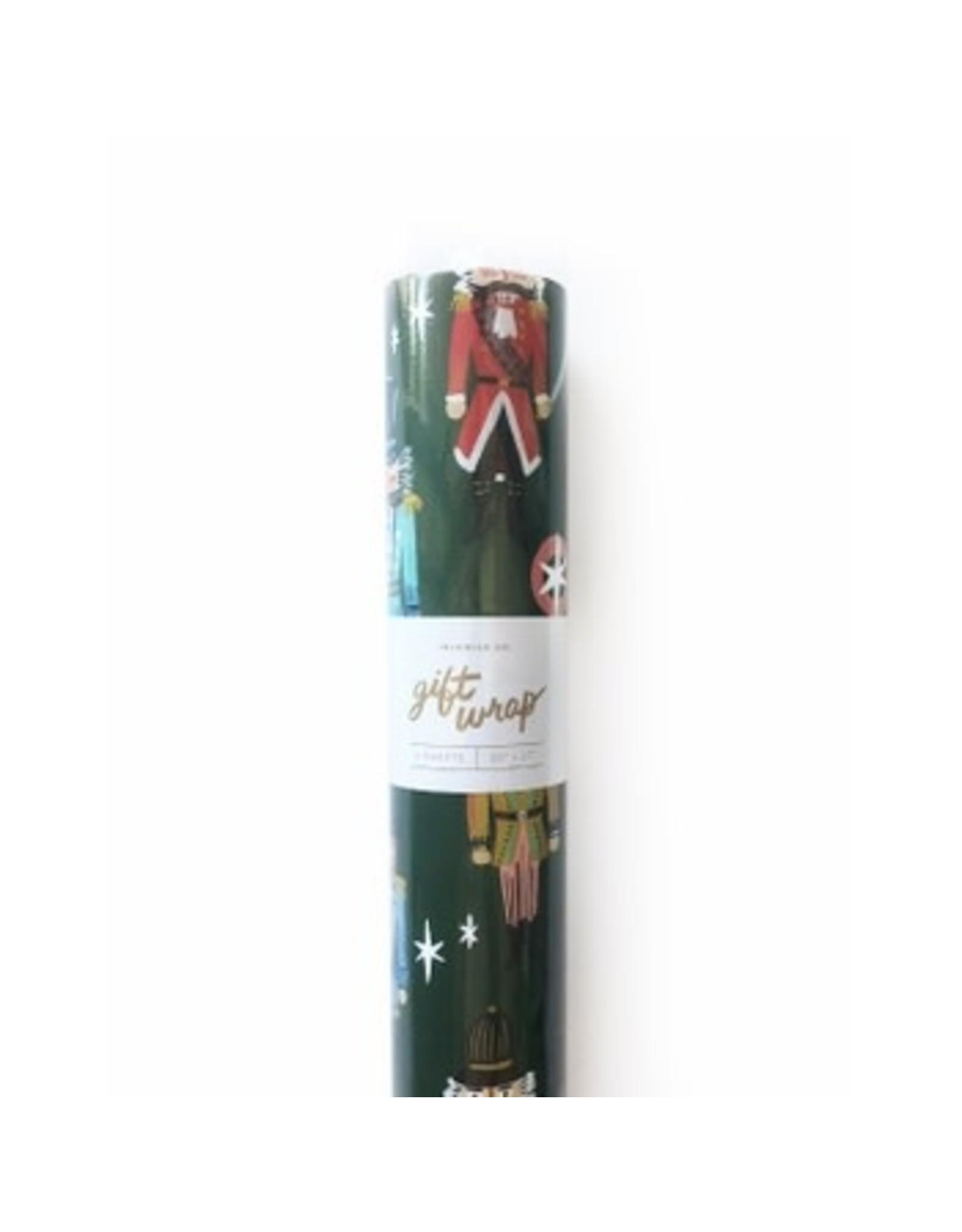 Nutcracker Gift Wrap - Roll of 3