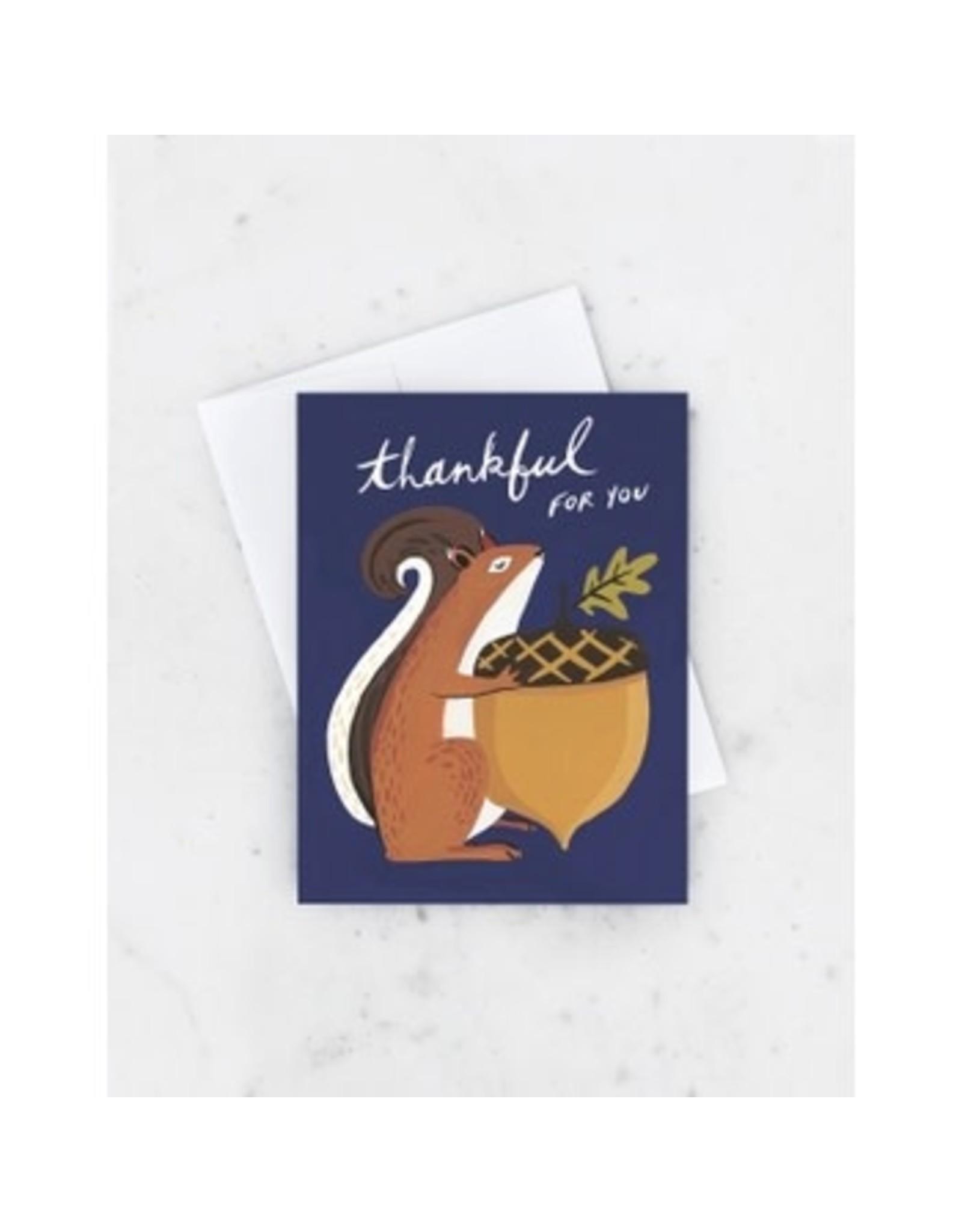 Thankful Squirrel Card