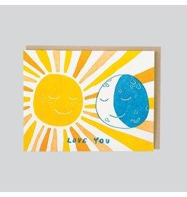 folio press & paperie Sun and Moon Love Card
