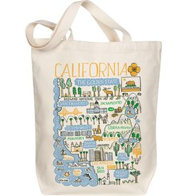 Morado Designs California Boutique Map Art Tote - Golden