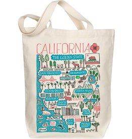 Morado Designs California Boutique Map Art Tote - Pink
