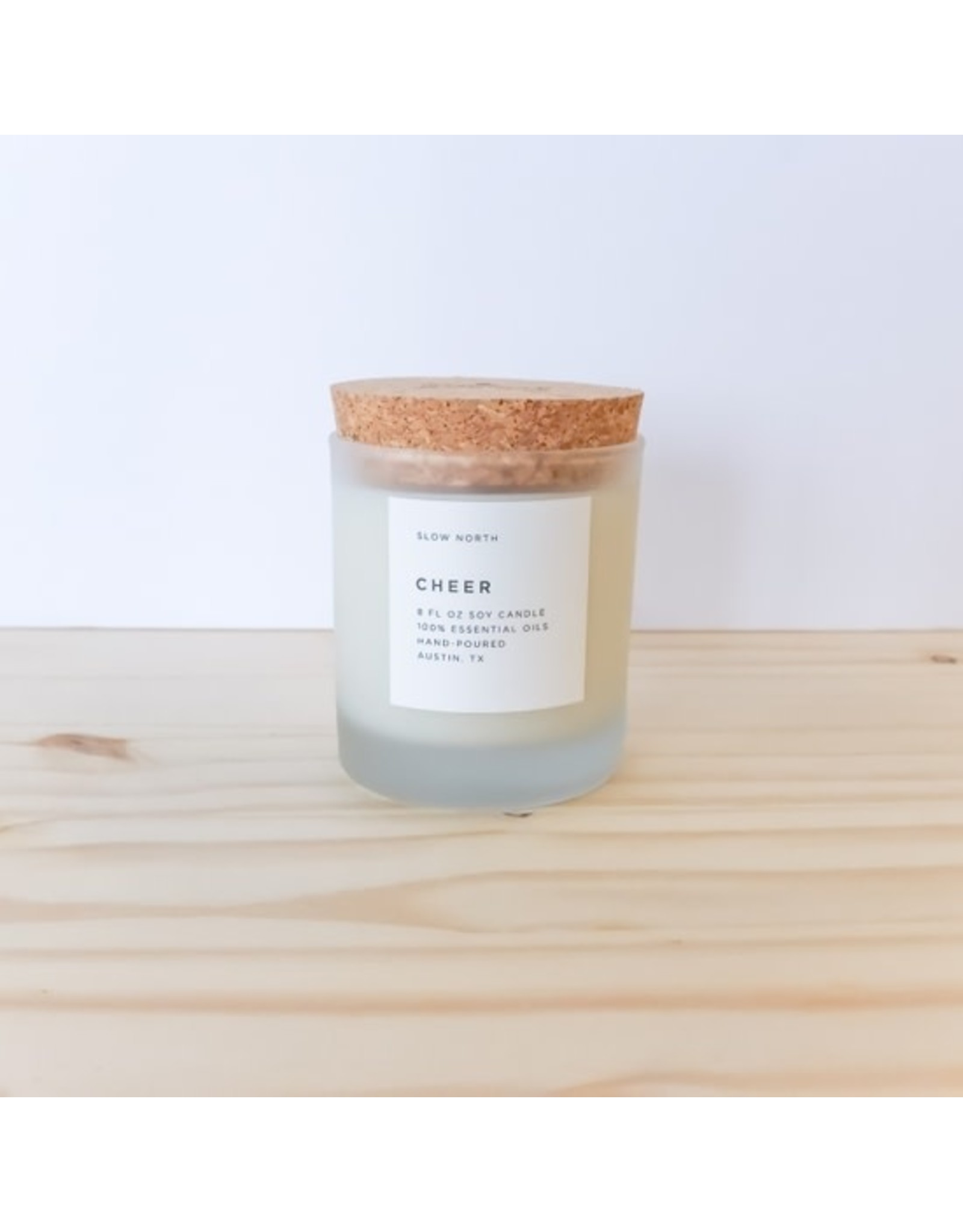 Cheer Frosted Candle