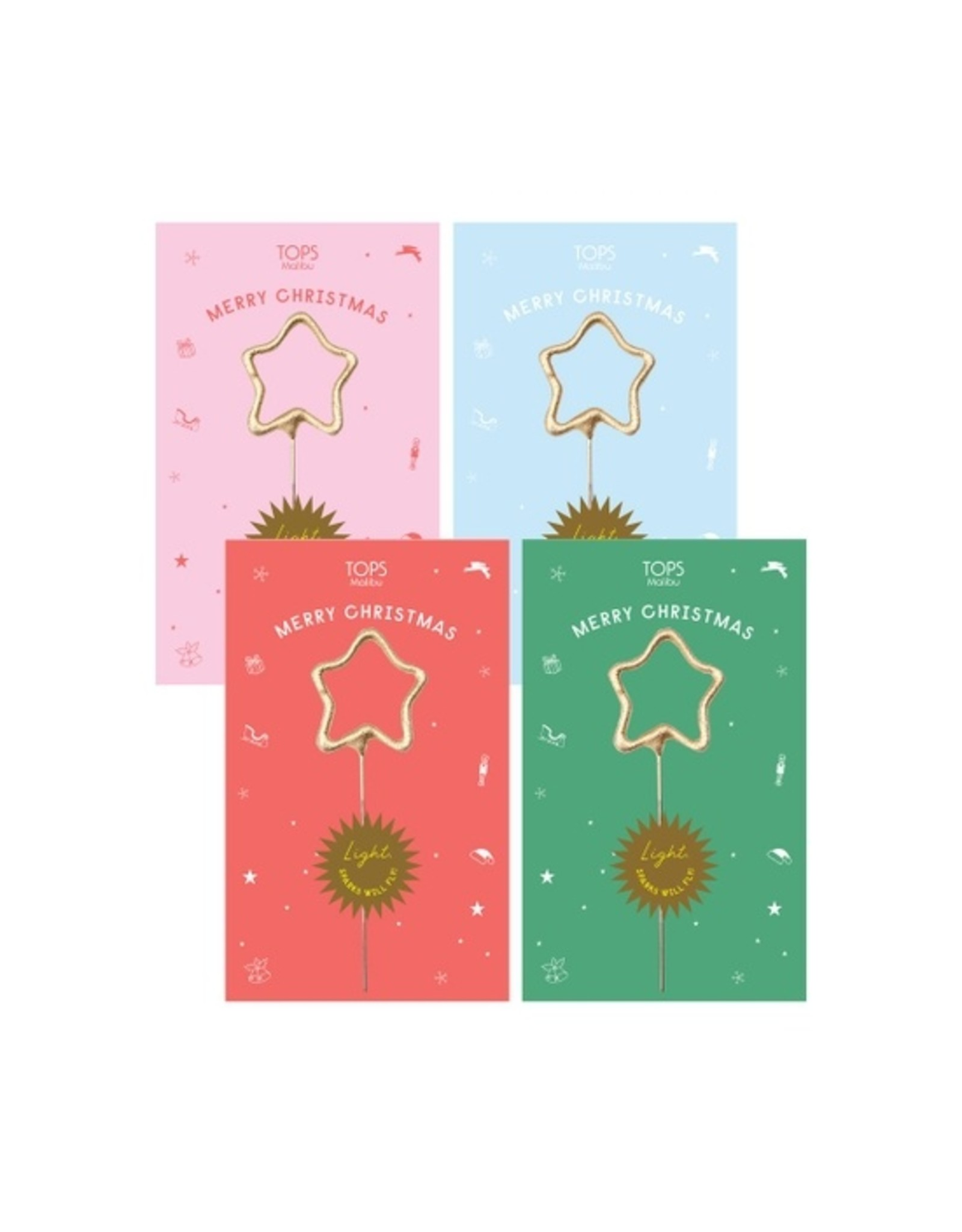 Sparkler Card - Merry Christmas