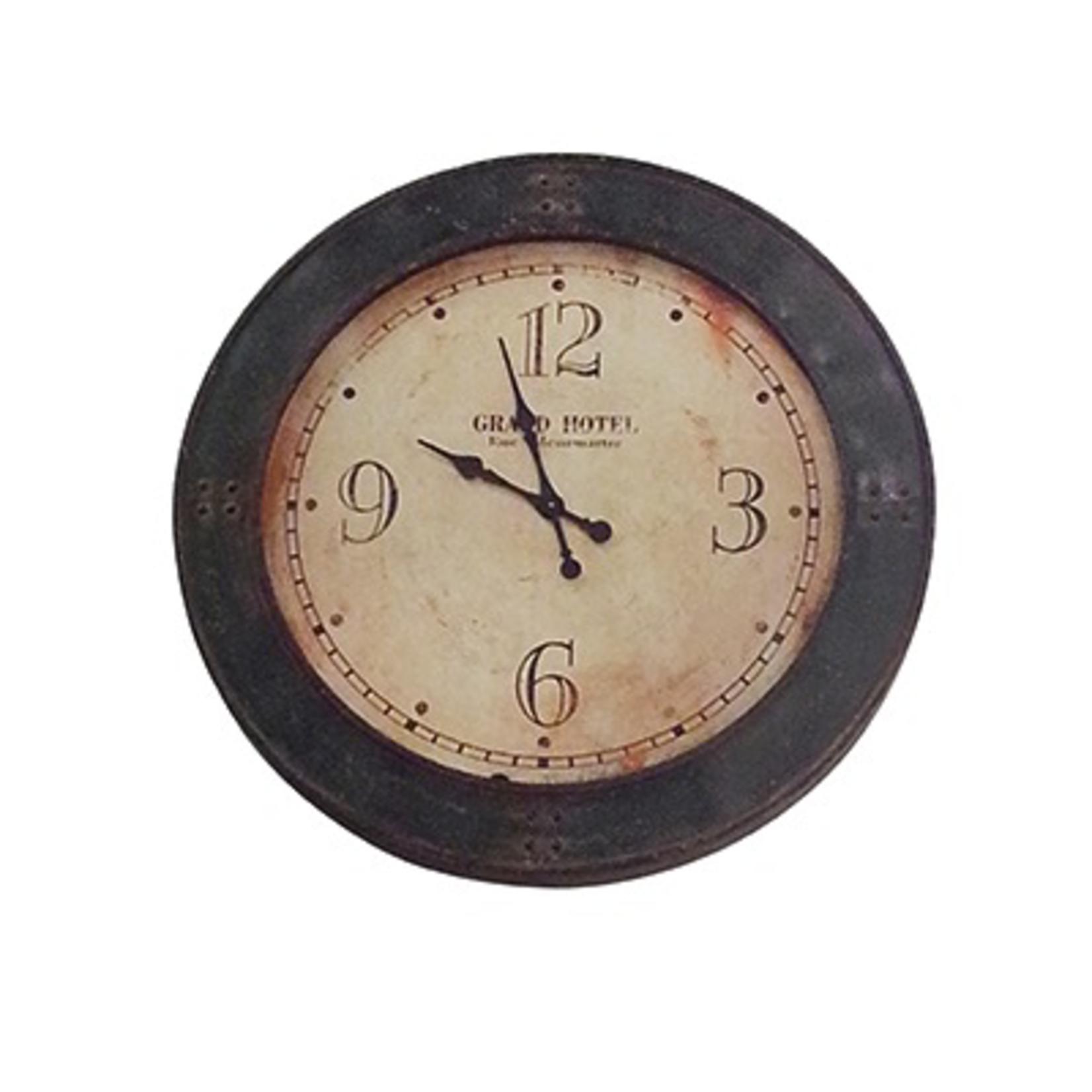 CHEHOMA IRON CLOCK  GRAND HTEL