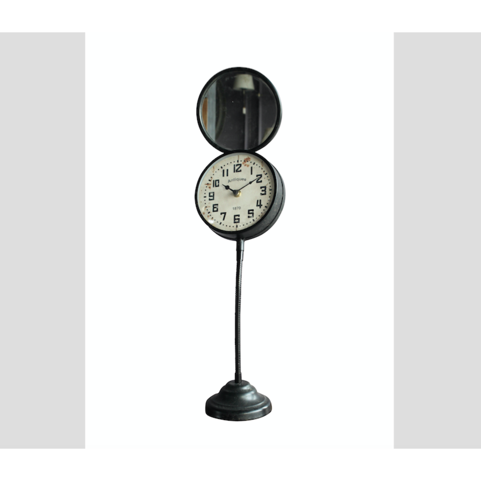 CHEHOMA CLOCK ON STAND WITH MIRROR SIDE