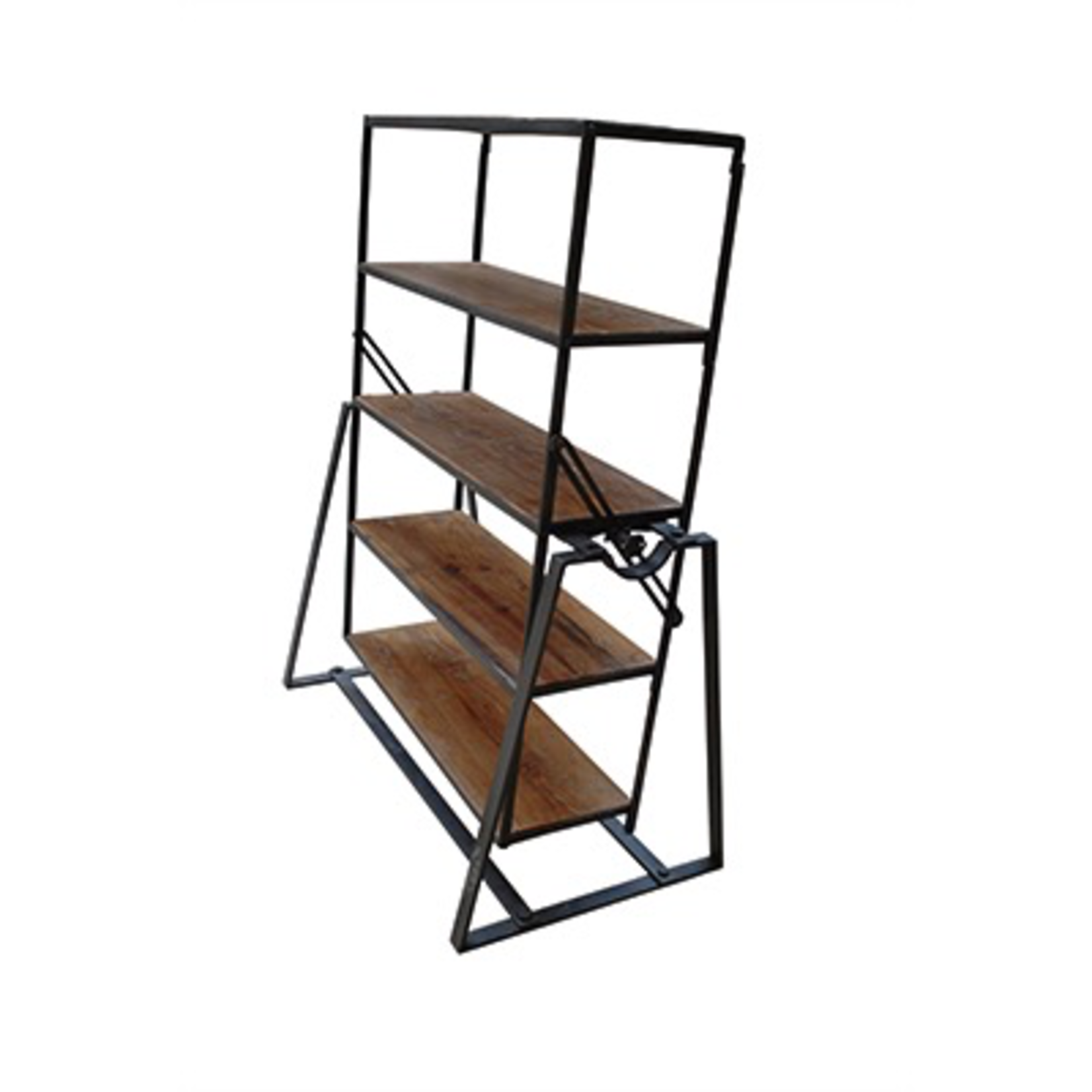 """CHEHOMA IRON & WOODEN SHELF WITH 5 LEVELS """"STANTON"""" TABLE"""