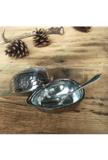 CHEHOMA Nut box w/glass & spoon