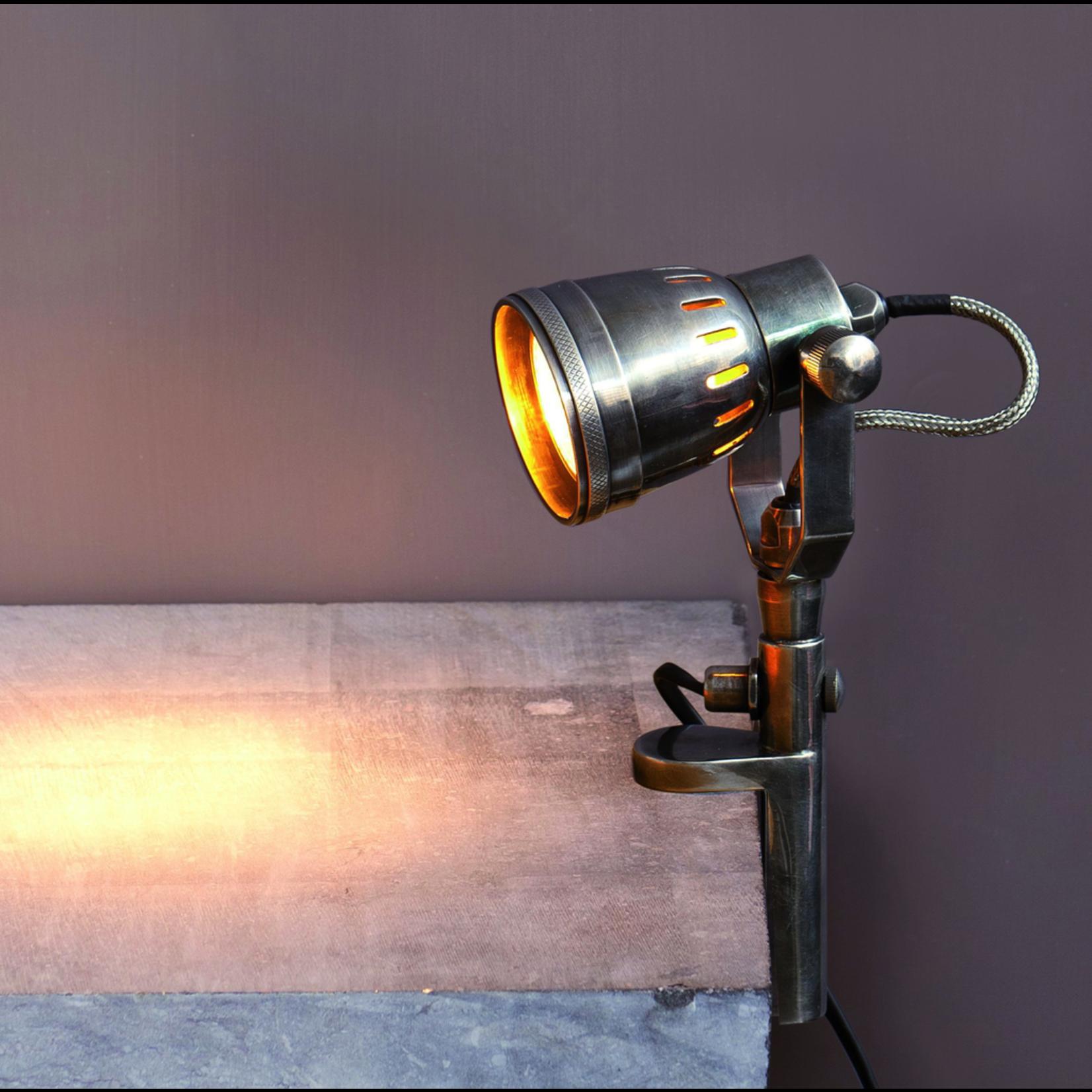 CHEHOMA SHELF LAMP NICKEL FINISH SMALL