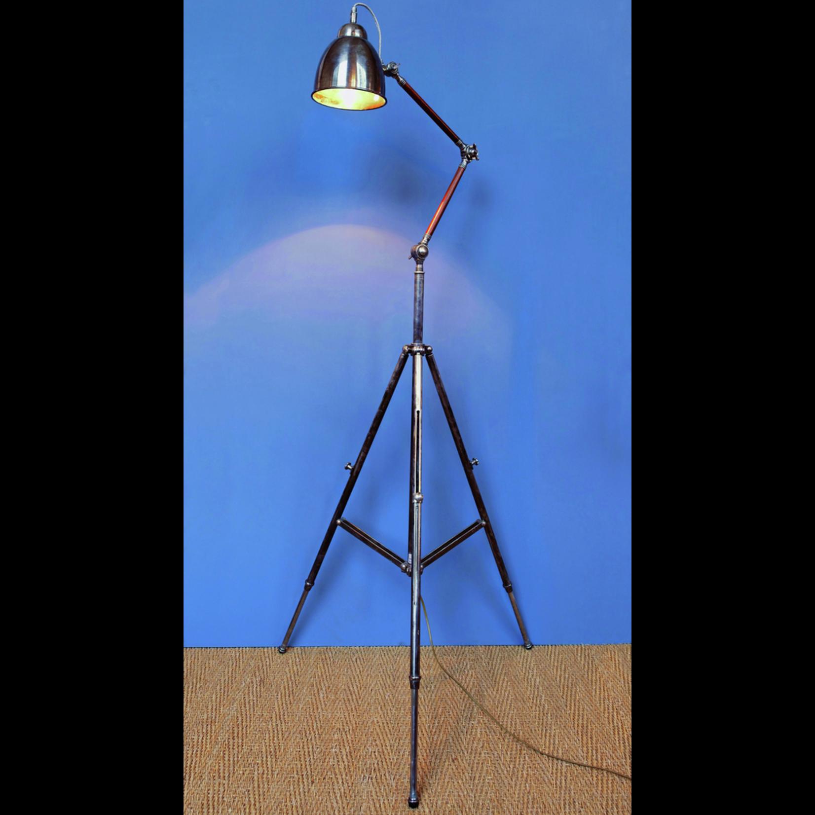 CHEHOMA TRIPOD FLOOR LAMP WOOD&NICKEL