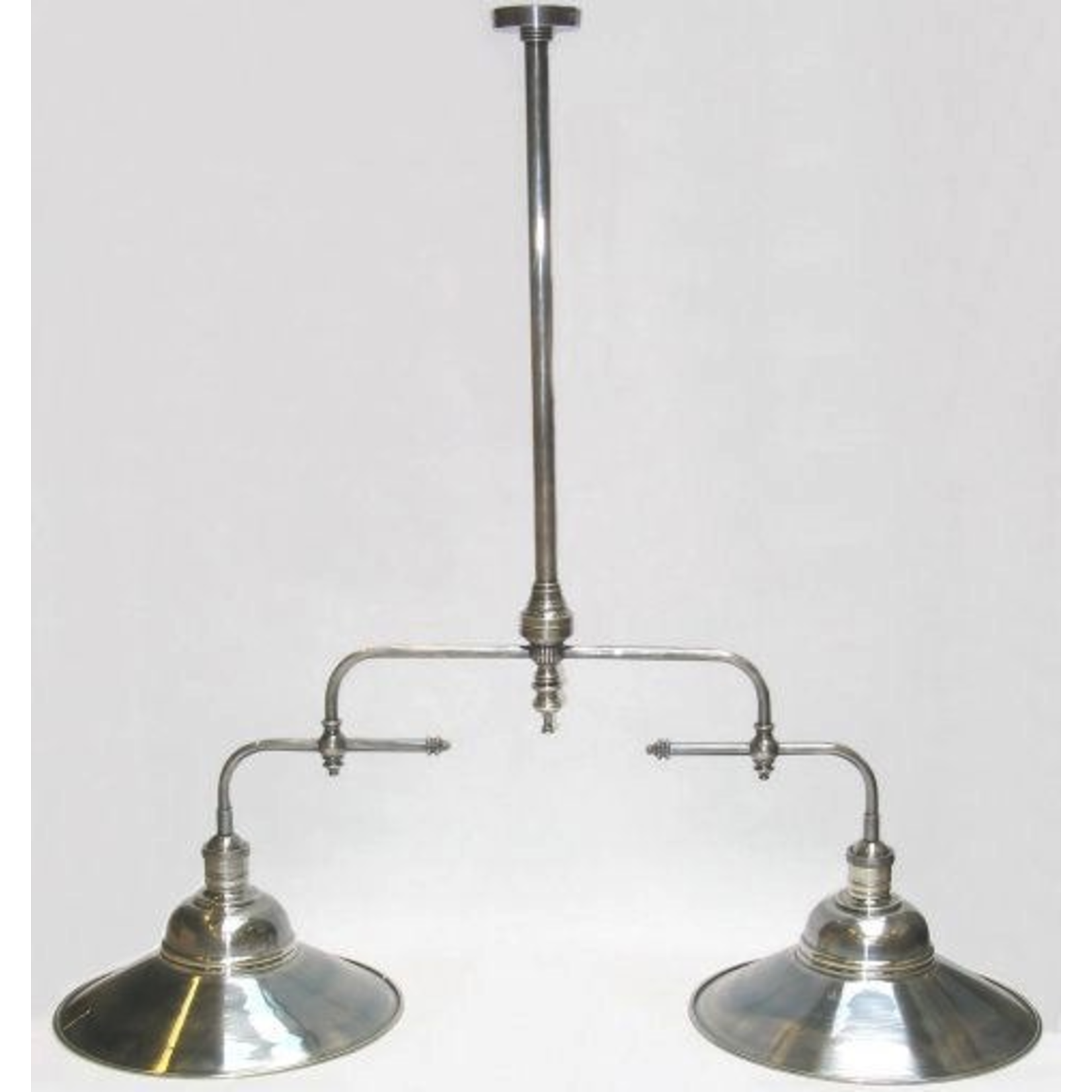 CHEHOMA HANGING LAMP 2 NICKEL SHADE