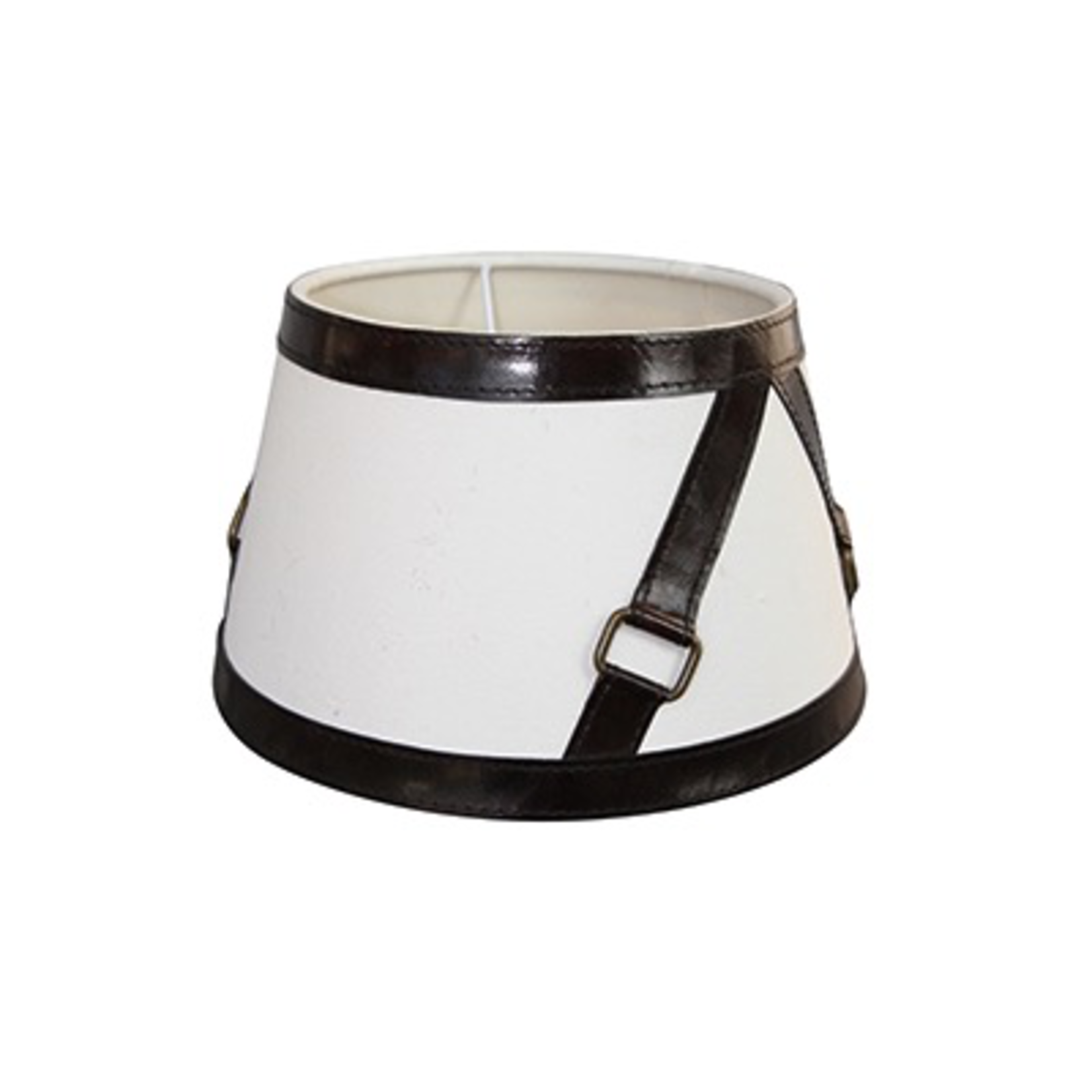 CHEHOMA SHADE WITH DARK BROWN LEATHER BELT 25CM