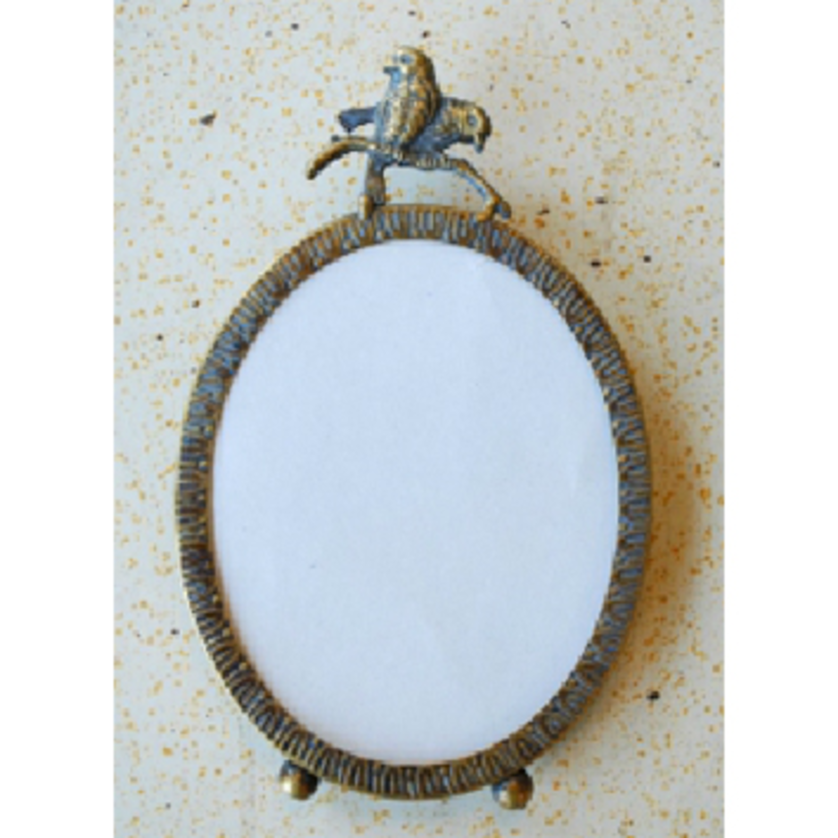 CHEHOMA Picture frame oval with 2 birds