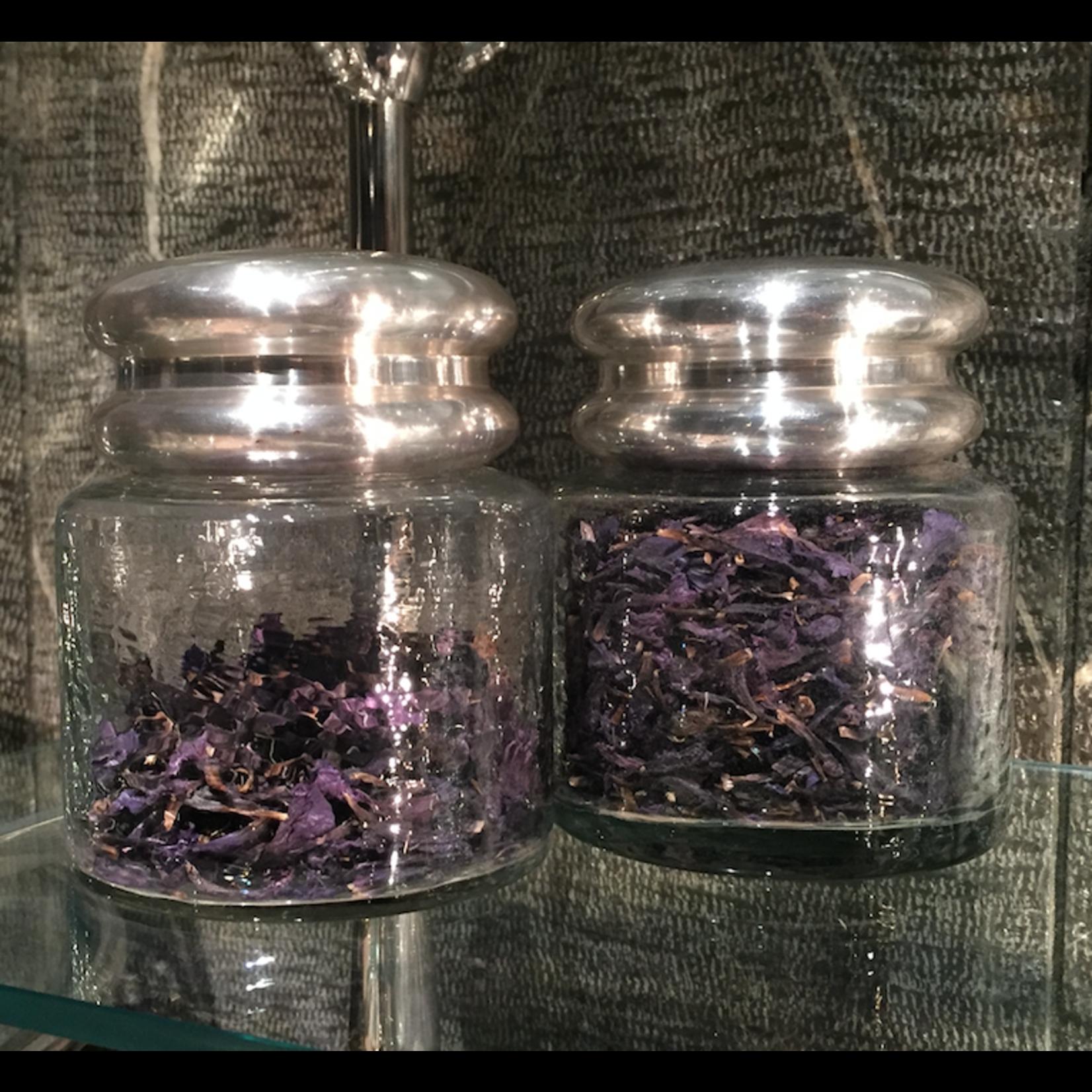 CHEHOMA Glass pot w/ nickle top