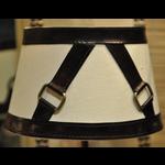 CHEHOMA Shade w/ dark brown leather belt (40)