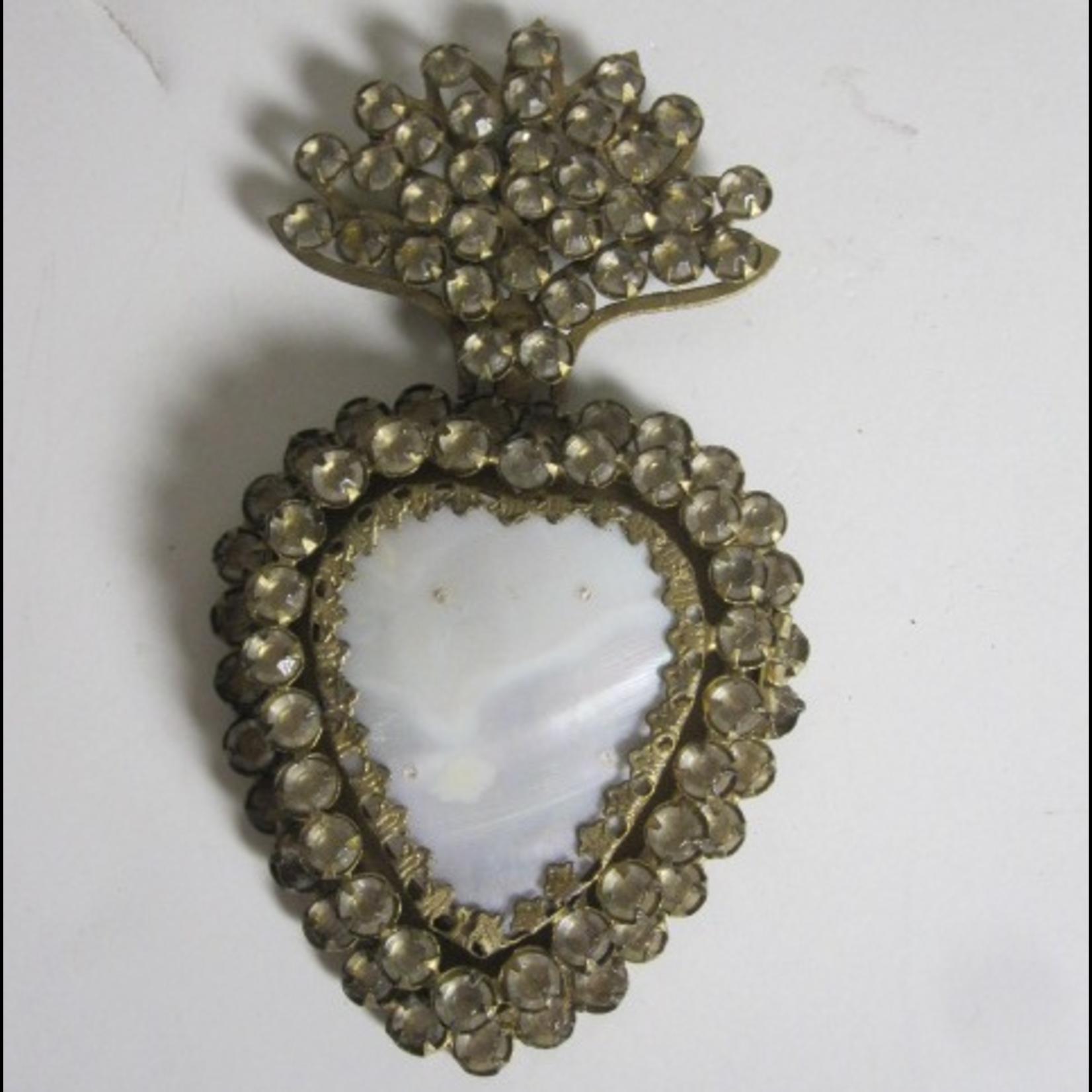 CHEHOMA Small jeweled heart box frame w/ diams