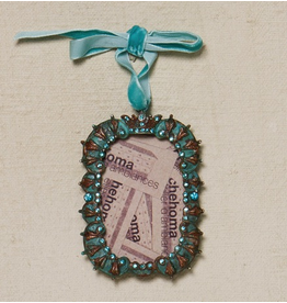 CHEHOMA Hanging picture frame crown turquoise pat.w/