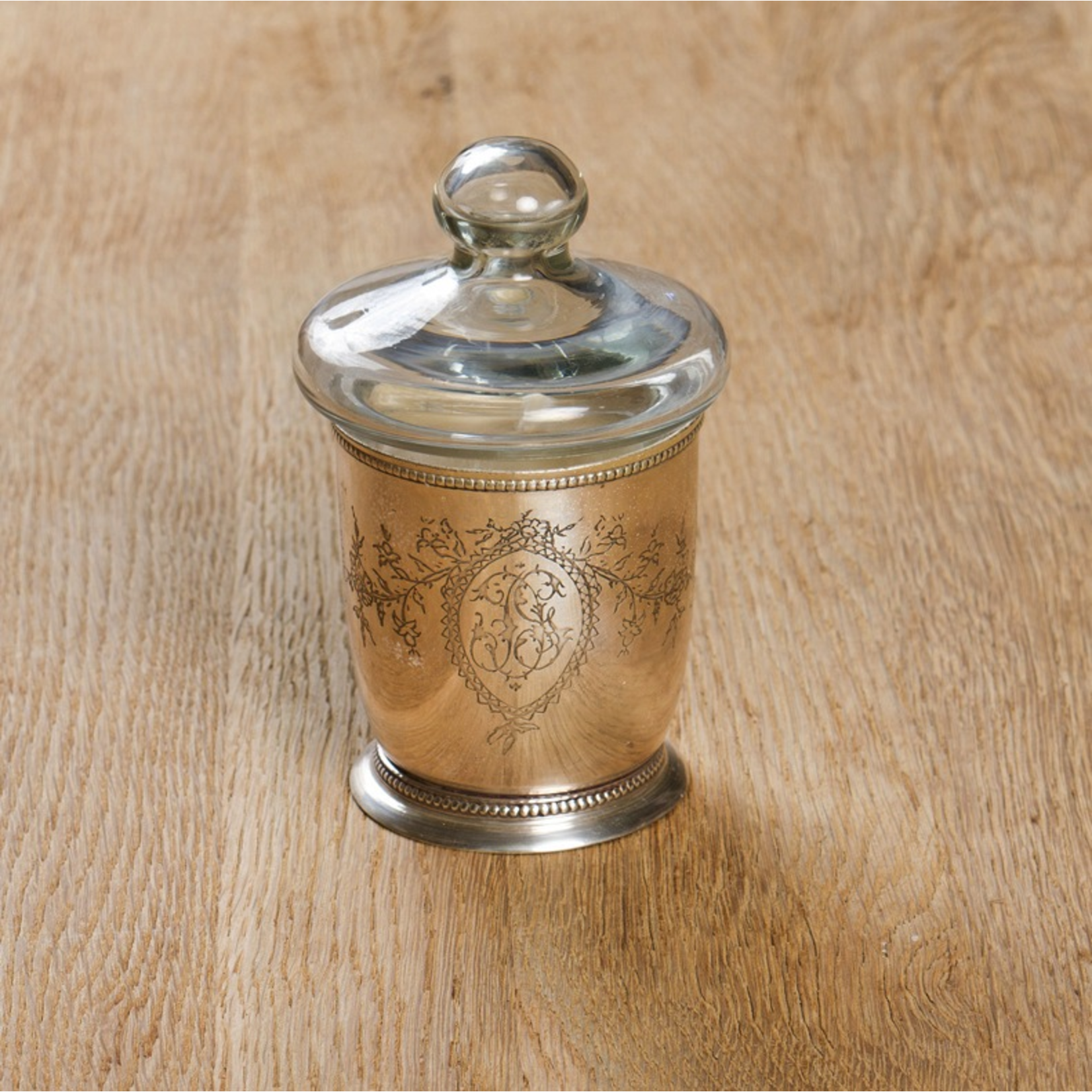 CHEHOMA ENGRAVING VOTIVE WITH CANDLE