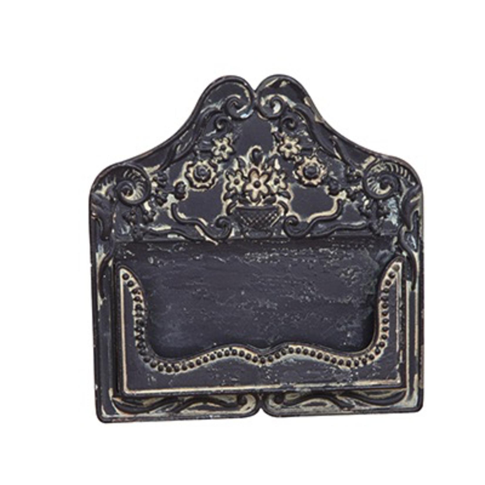 CHEHOMA CARD HOLDER ANTIQUE BLACK FINISH