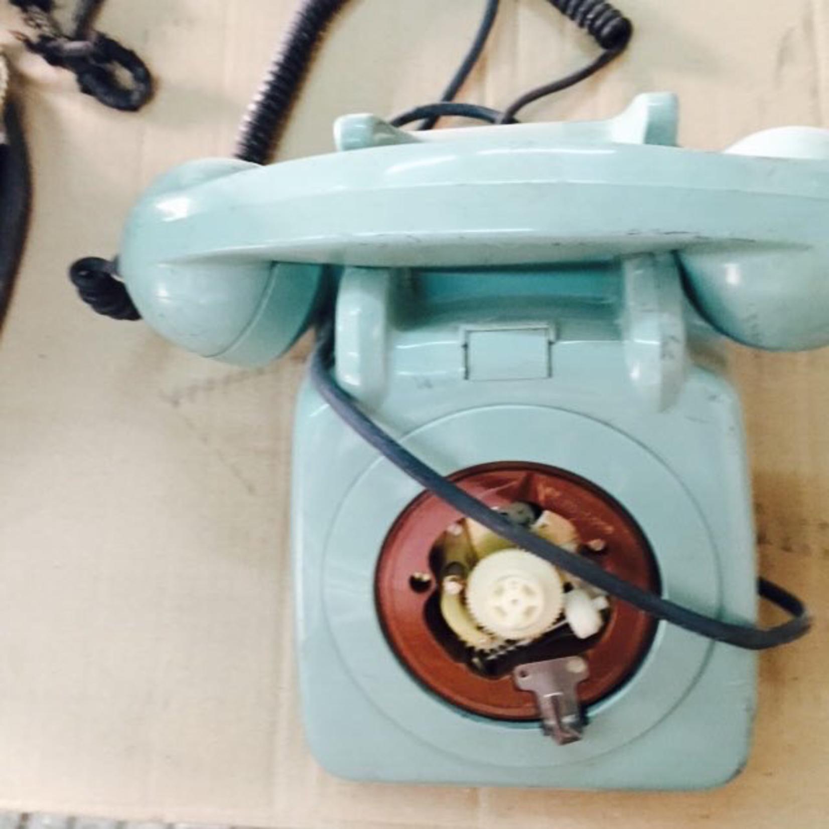 TAJHOME VINTAGE BLUE PHONE
