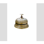 CHEHOMA Small embossed desk bell dull finish
