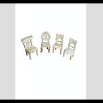 CHEHOMA S/4 card holder chairs design in maillechort