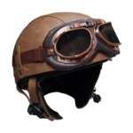 RAYVOLT Helmets 1/2 face brown