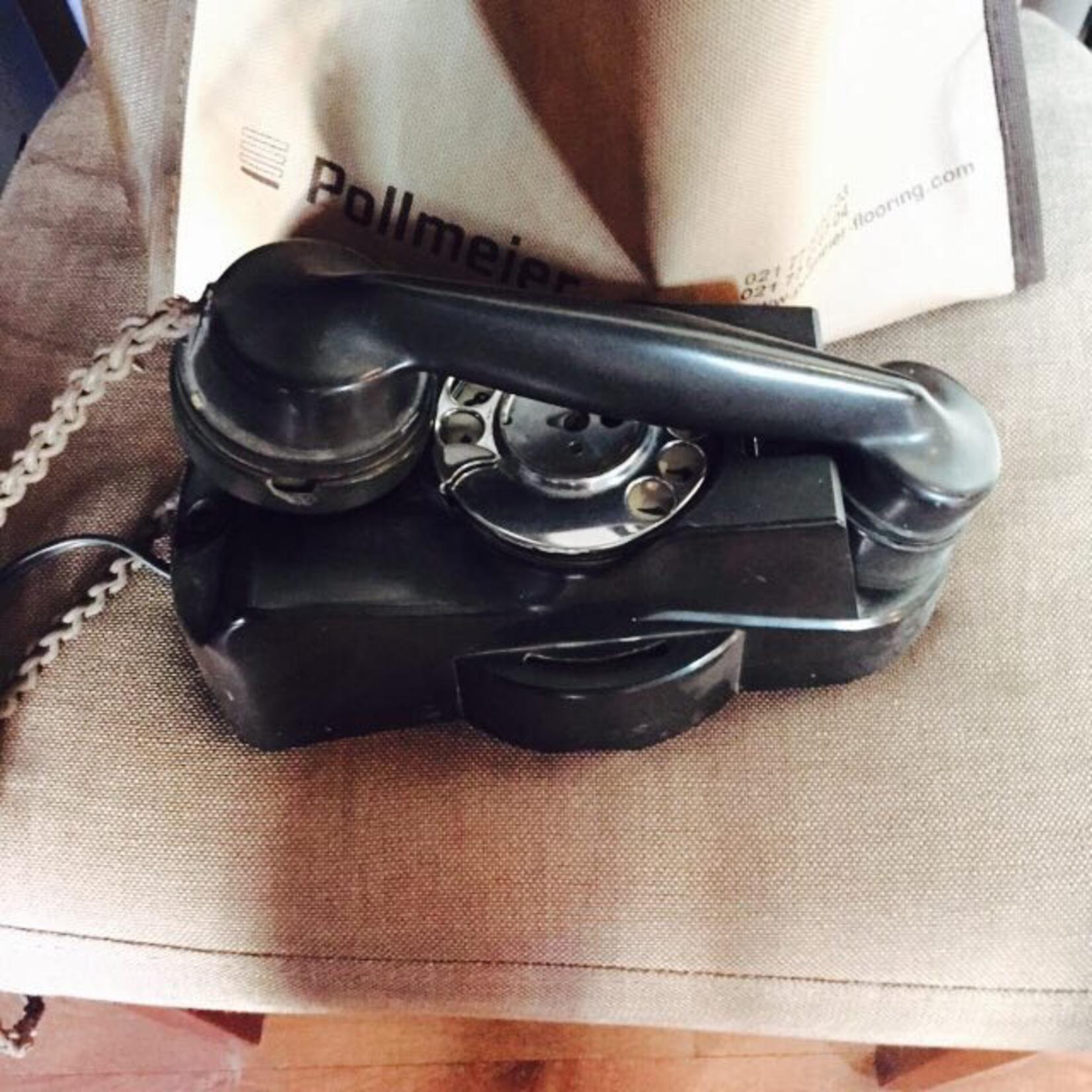 TAJHOME VINTAGE BLACK WALL PHONE