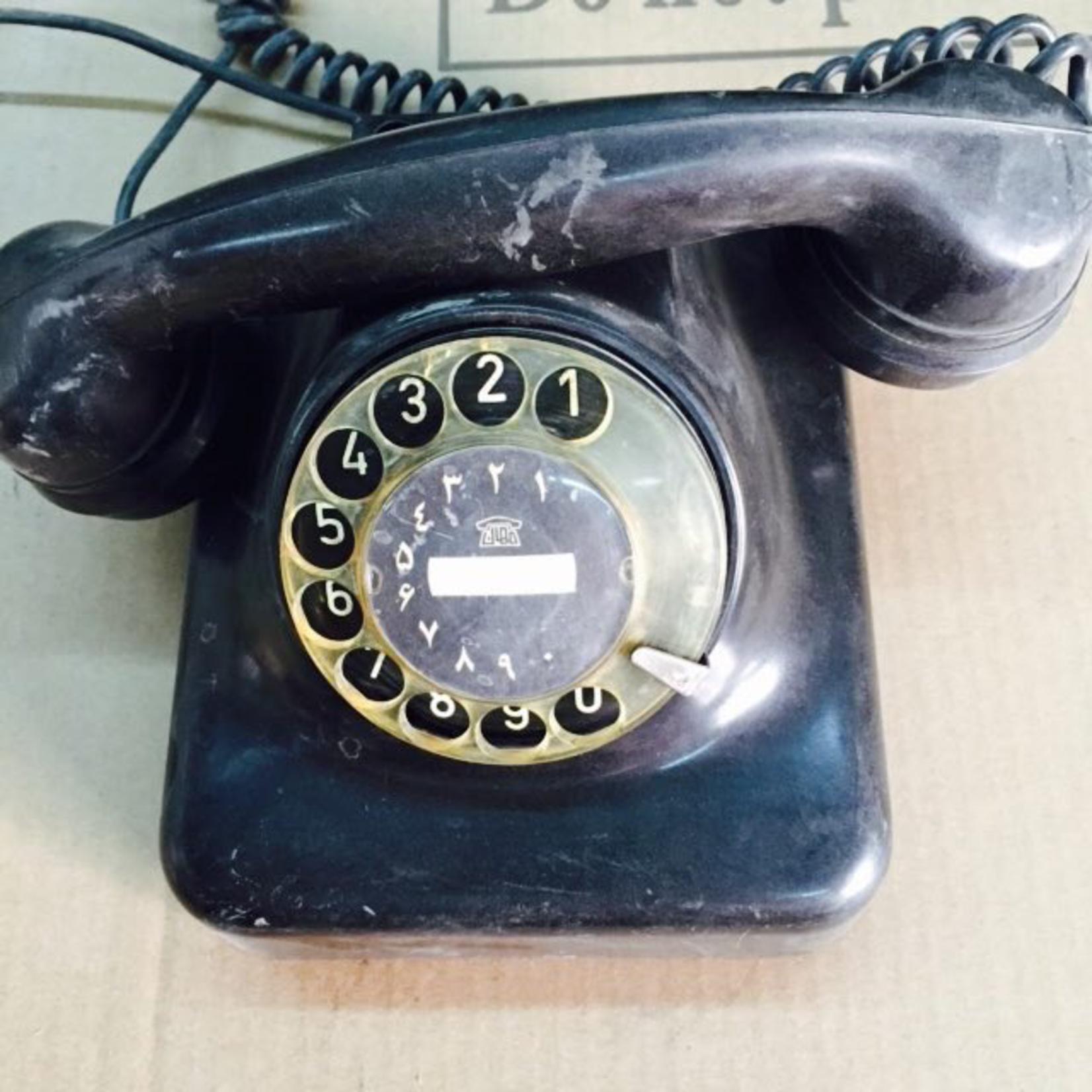 TAJHOME VINTAGE BLACK PHONE