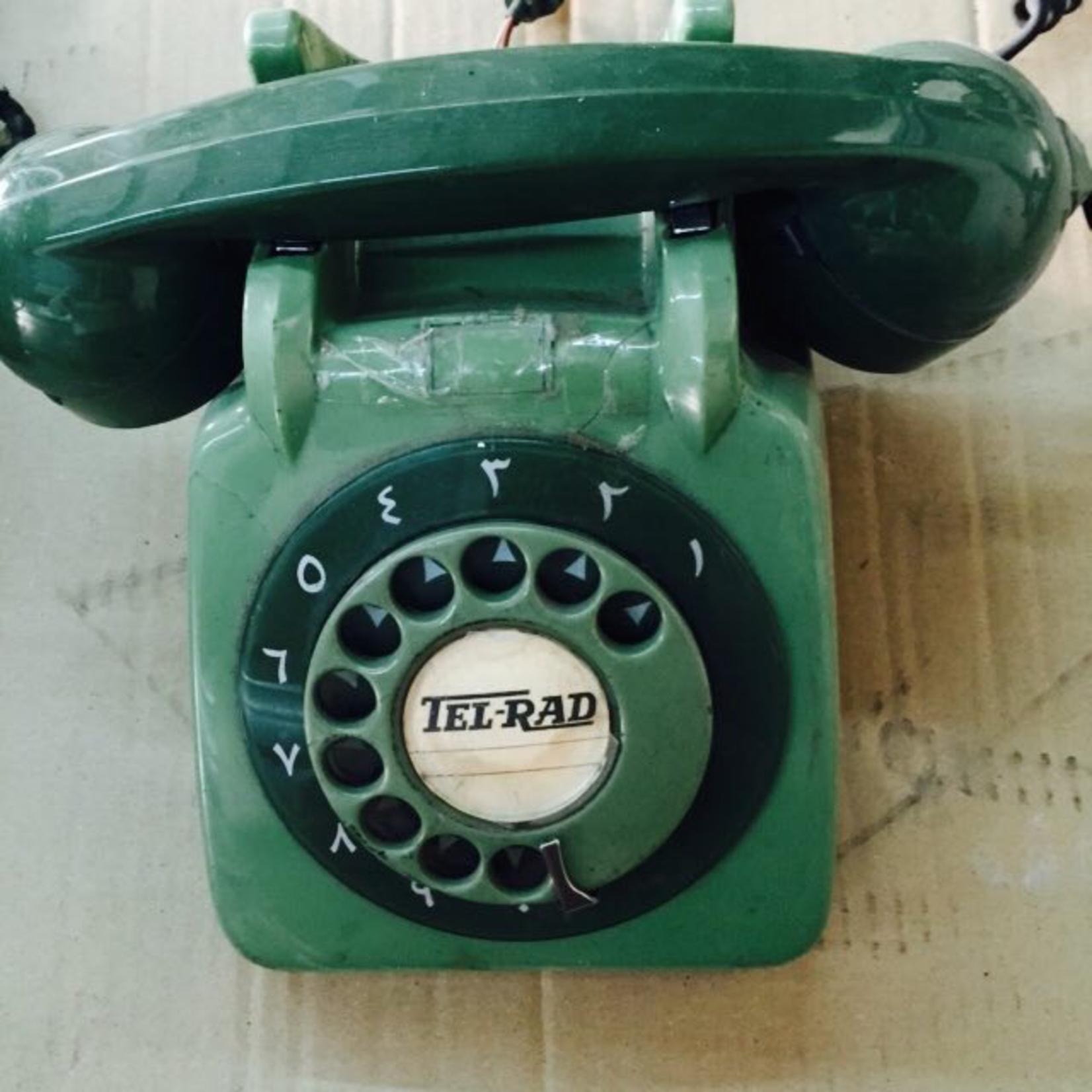 TAJHOME VINTAGE GREEN PHONE