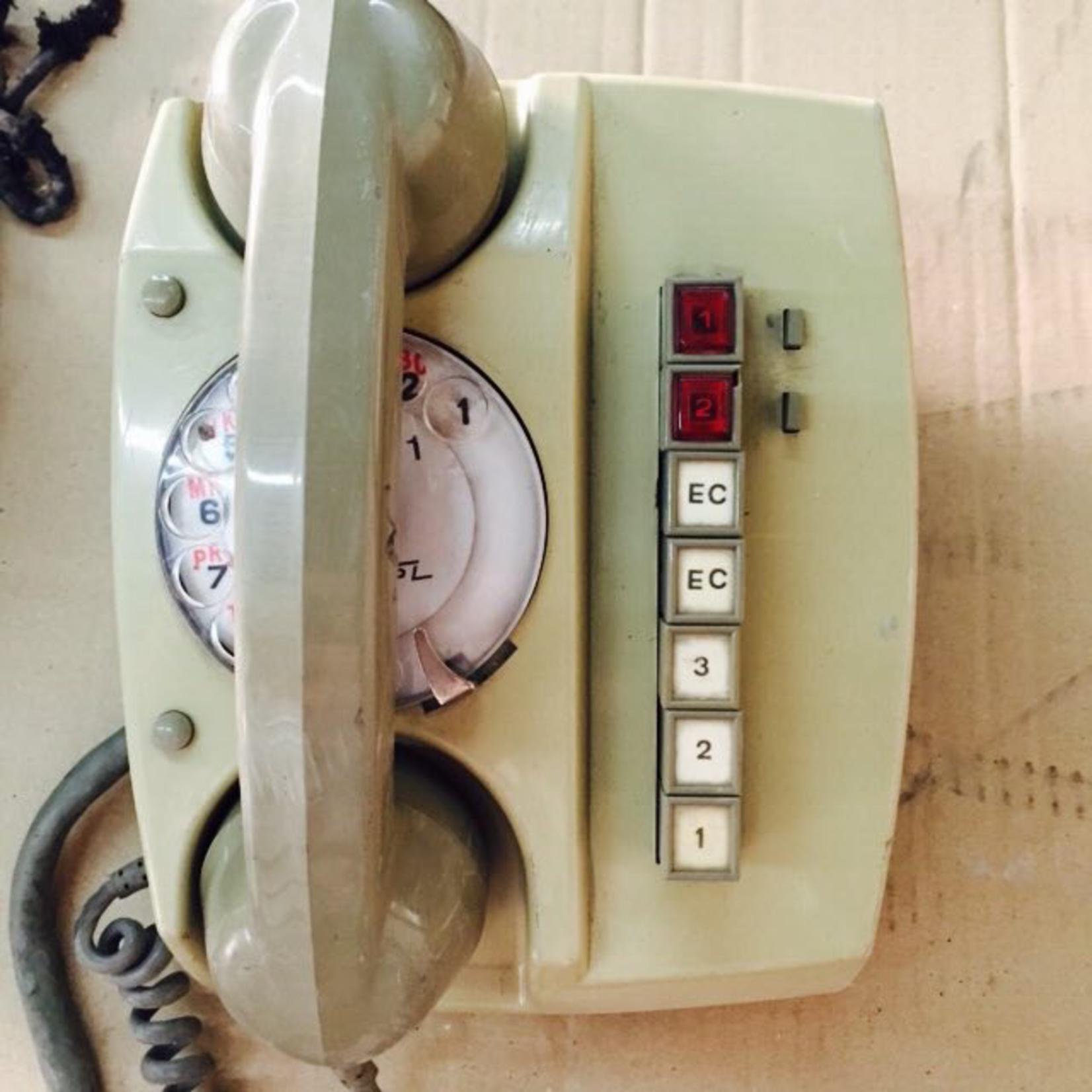 TAJHOME VINTAGE WHITE PHONE
