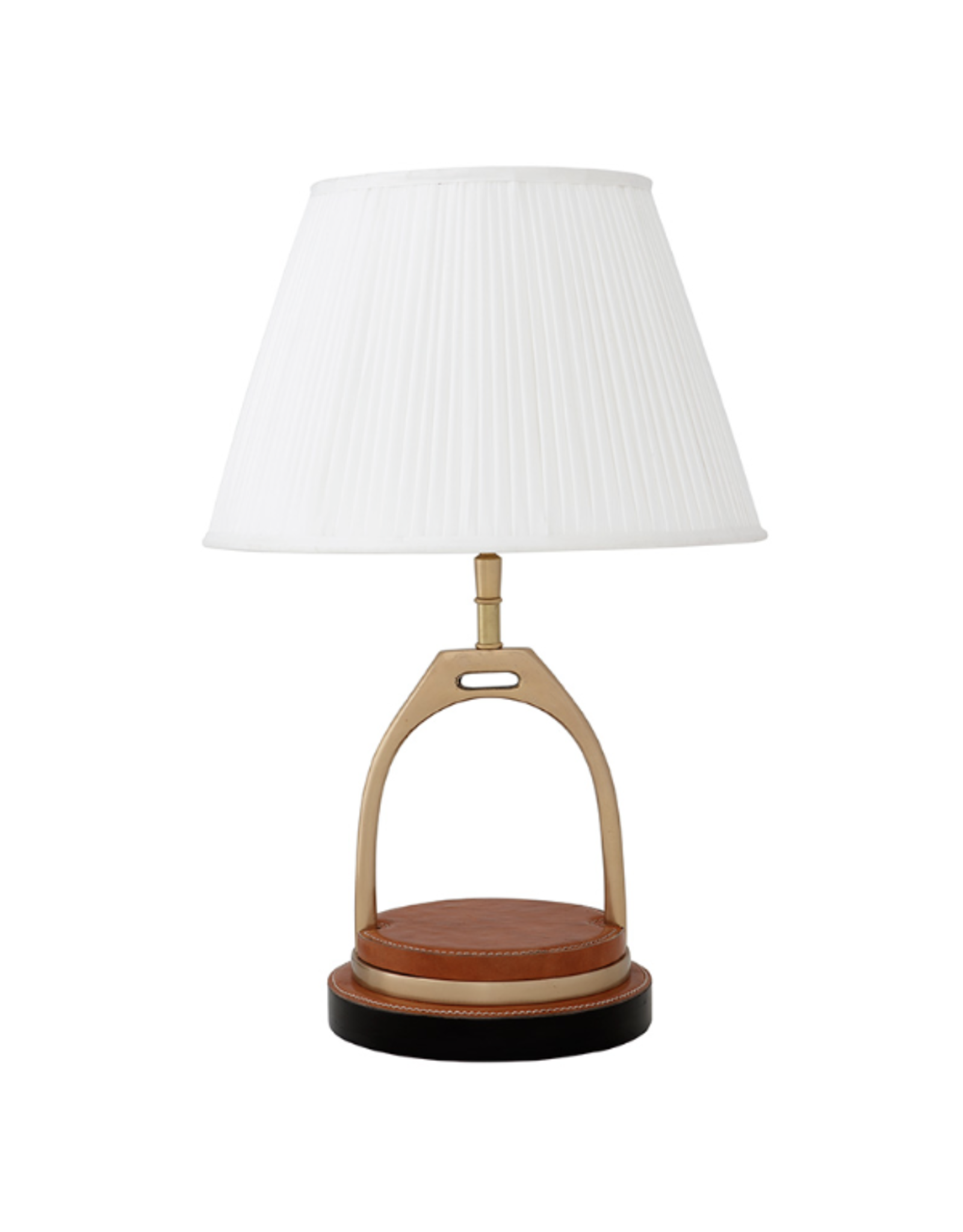 EICHHOLTZ LAMP PRINCETON AGED BRASS INCLUDING SHADE