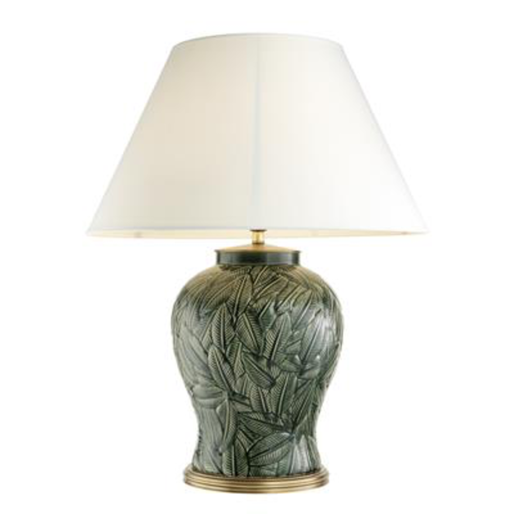 EICHHOLTZ TABLE LAMP CYPRUS GREEN CERAMIC INCLUDING SHADE