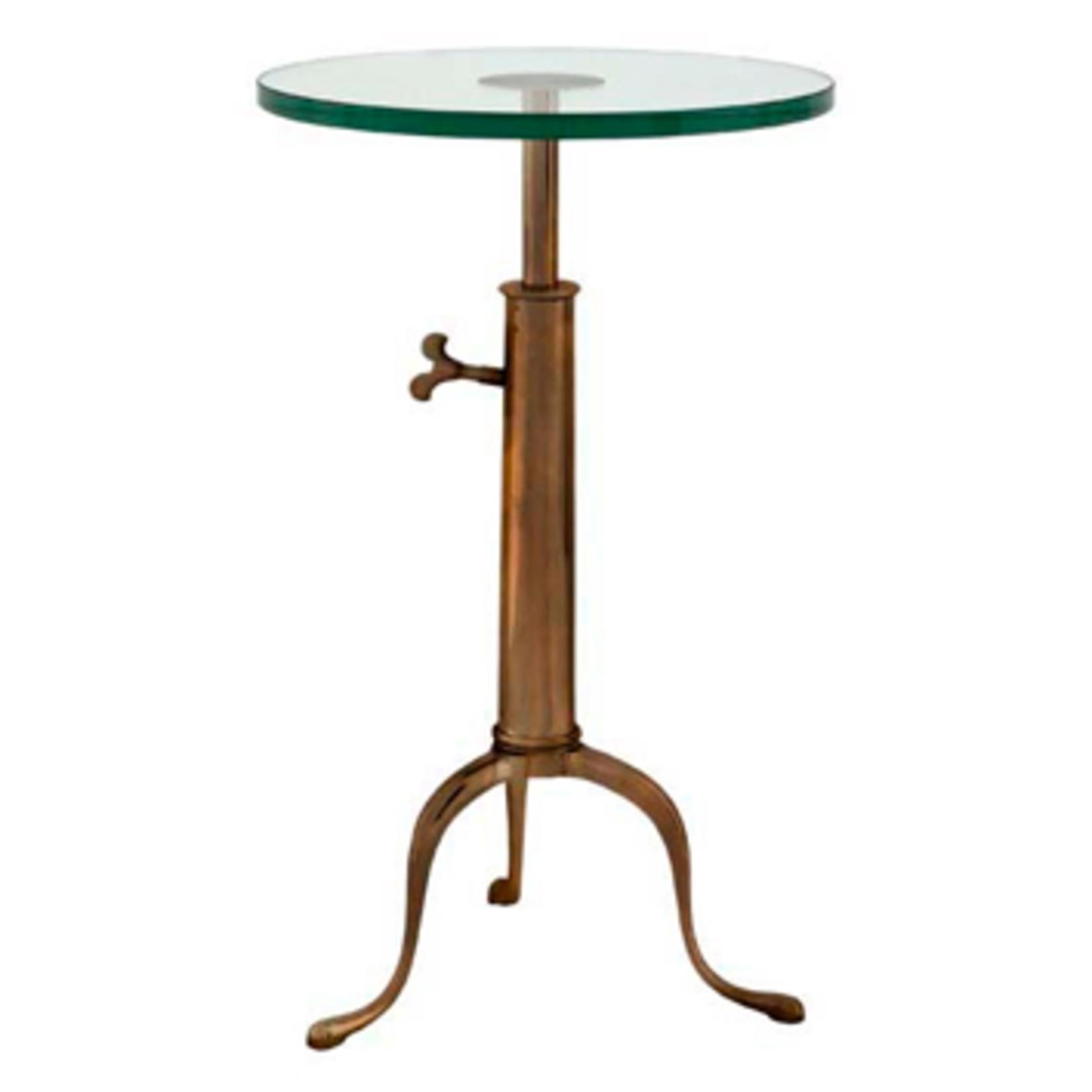 EICHHOLTZ TABLE BROMPTON ANTIC BRASS