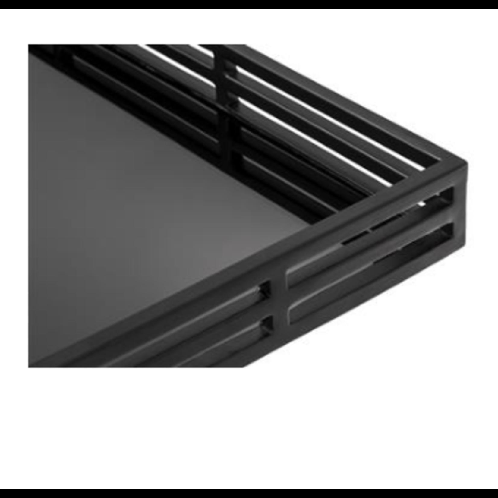 EICHHOLTZ Tray Giacomo black finish rectangular