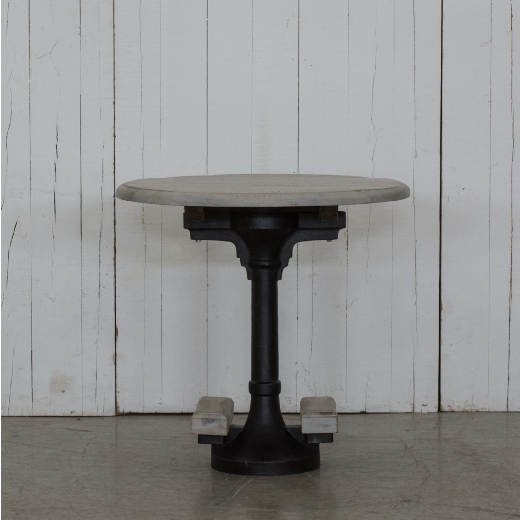 VAN THIEL DINING TABLE BISTRO TABLE WITH CAST METAL BASE